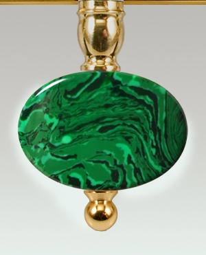 Oval Patter Malachite