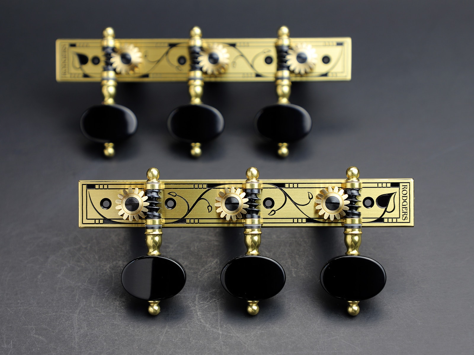 Rodgers Tuners L669 Brass Blackened Jet