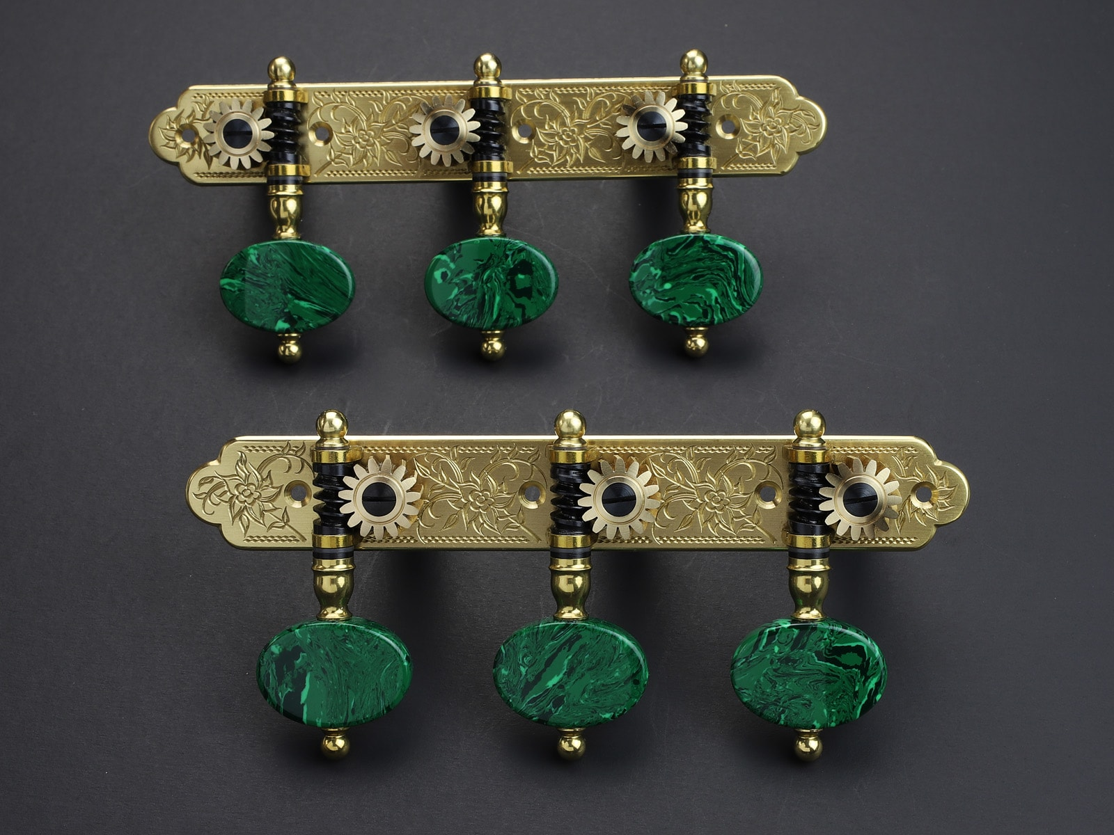 Rodgers Tuners L675 117mm Brass Malachite
