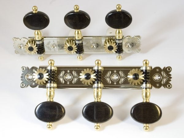 Rodgers Tuners L201 NS Oval Ebony Polish