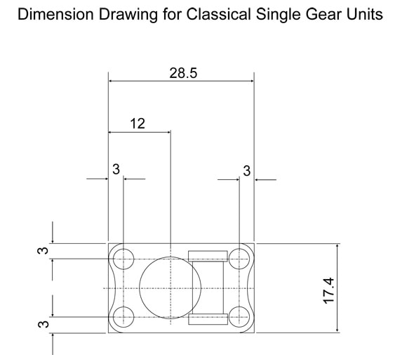 Single plate dimension drawing Classical