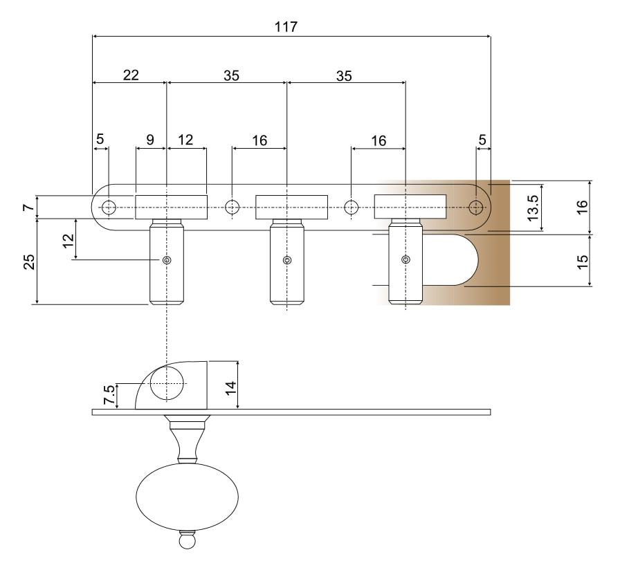 Standard Lacote 35x117mm