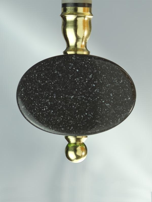 Oval Dark Grey Quartz