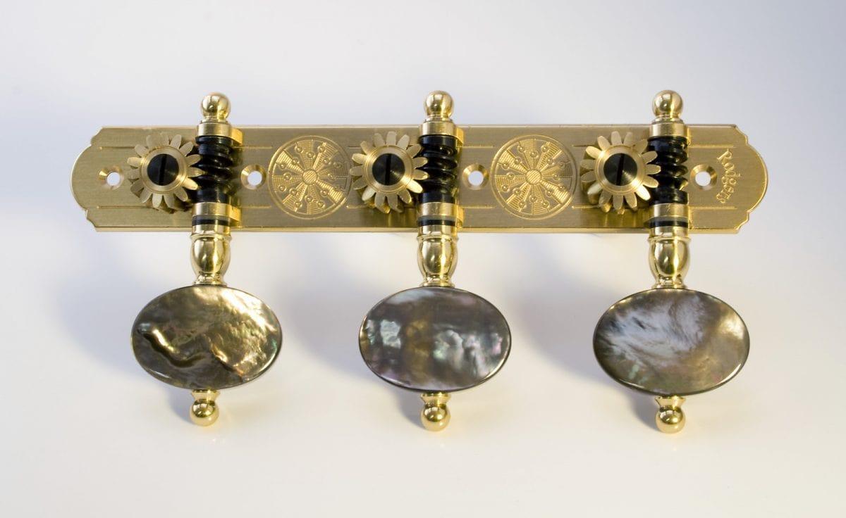 L325 Brass with Dark MoP buttons