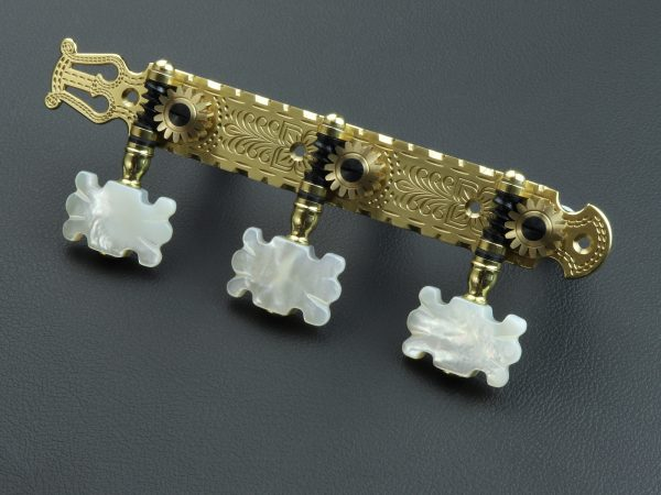 L698 Brass with MoP Butterfly buttons
