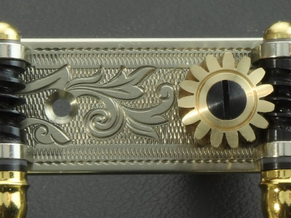 L702 Nickel Silver with ivory butterfly buttons